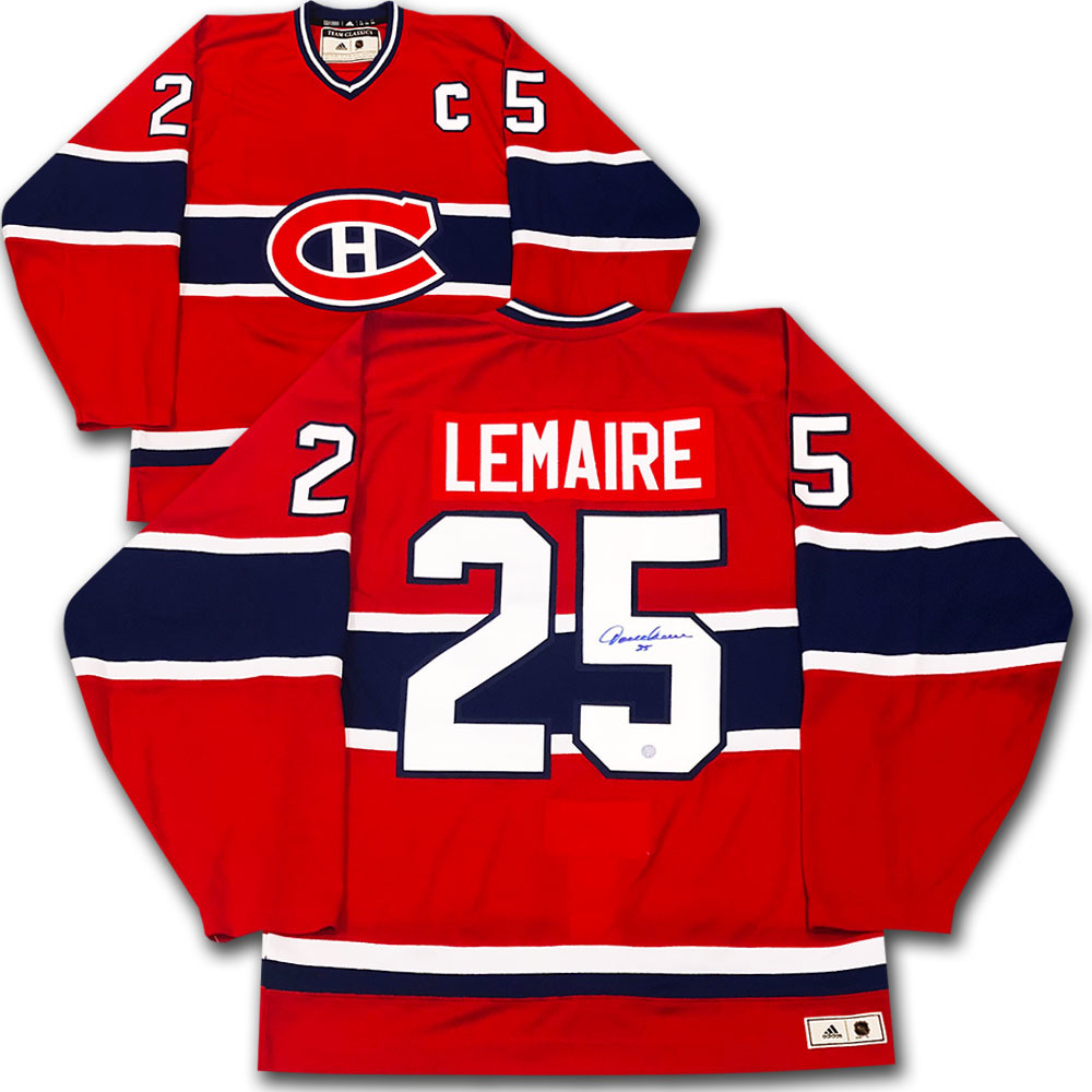 Jacques Lemaire Autographed Montreal Canadiens adidas Team Classics Authentic Vintage Jersey