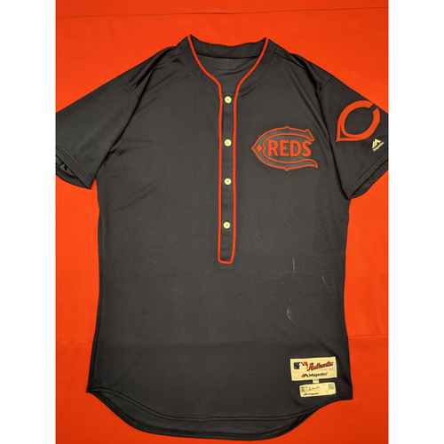 Photo of Michael Lorenzen -- Game-Used Jersey -- 1911 Throwback worn 5/5/19 -- Jersey Size - 44