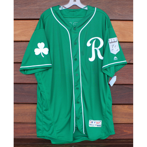 Photo of Team-Issued St. Patrick's Day Jersey: Cal Eldred (Size - 52)