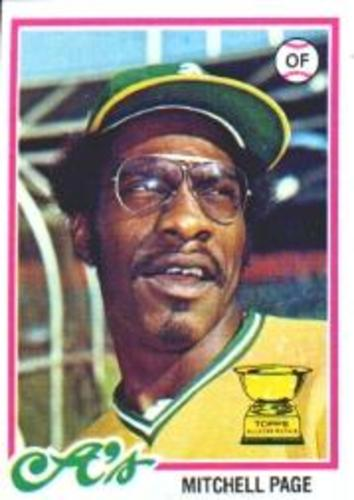 Photo of 1978 Topps #55 Mitchell Page RC