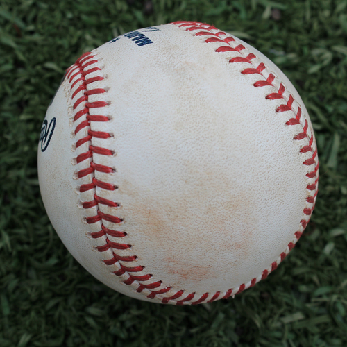 Photo of Game-Used Baseball: Danny Duffy Pitched Strikeout to Nelson Cruz (MIN @ KC - 6/22/19)
