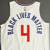 JaMychal Green - Los Angeles Clippers - Game-Worn Association Edition Jersey - 1 of 2 - 2019-20 NBA Season Restart with Social Justice Message