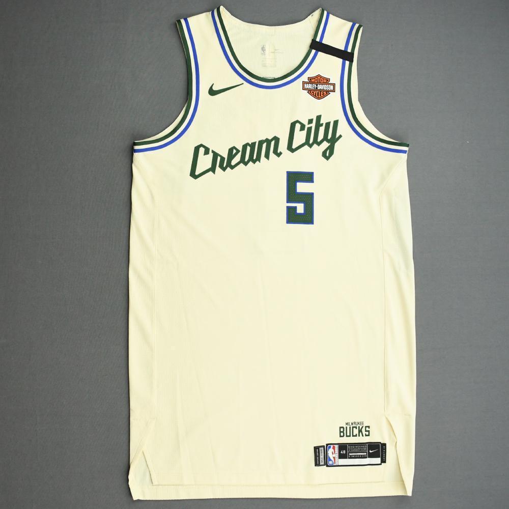 D.J. Wilson - Milwaukee Bucks - Game-Worn City Edition Jersey - 2019-20 NBA Season Restart with Social Justice Message