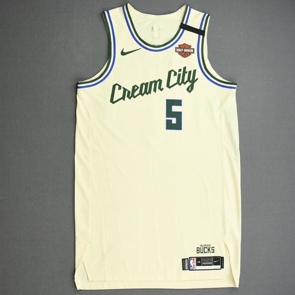 Image of D.J. Wilson - Milwaukee Bucks - Game-Worn City Edition Jersey - 2019-20 NBA Season Restart with Social Justice Message