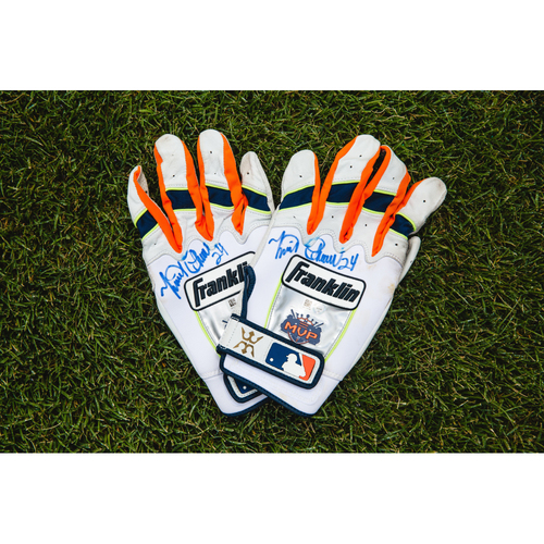 Cabrera Exclusive! Miguel Cabrera Detroit Tigers Autographed Pair of Batting Gloves (MLB AUTHENTICATED)