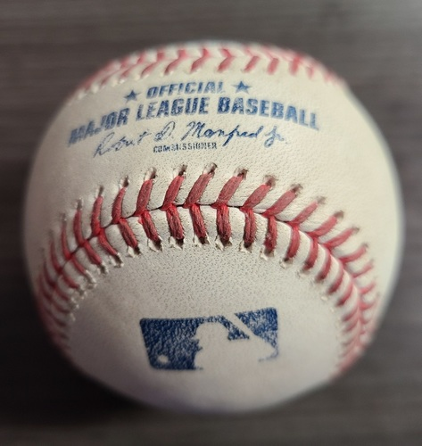 Photo of Authenticated Game Used Baseball: RBI Single by Oscar Mercado against Robbie Ray (Aug 2, 2021 vs CLE). Top 3.