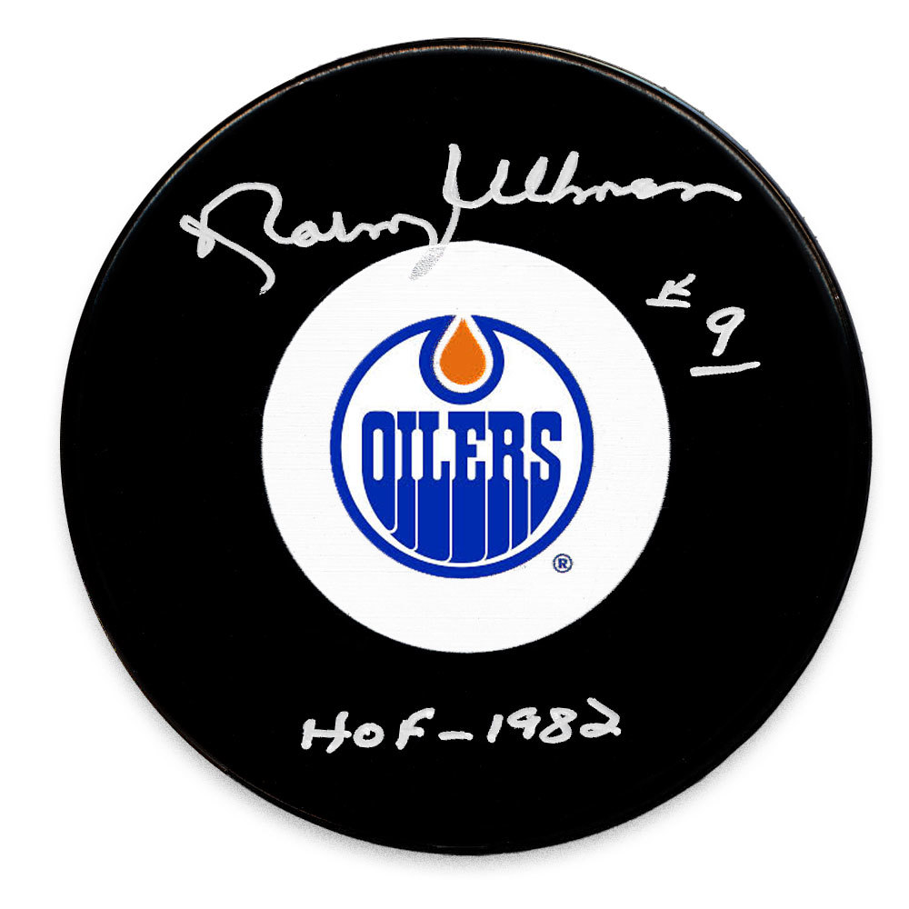 Norm Ullman Edmonton Oilers HOF Autographed Puck