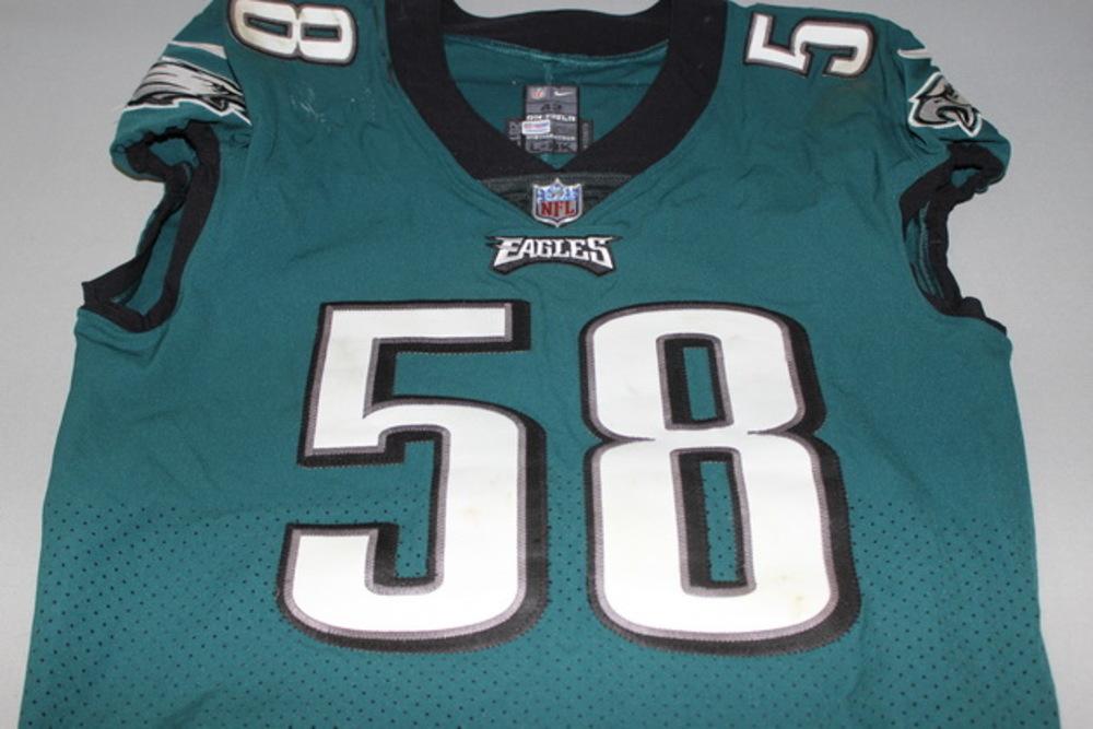 NFL Auction | CRUCIAL CATCH - EAGLES JORDAN HICKS GAME WORN EAGLES ...