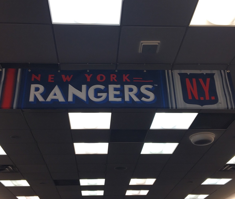 2018 NHL Winter Classic Locker Room Banner - New York Rangers