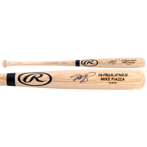 Photo of Mike Piazza New York Mets Autographed Rawlings Bat