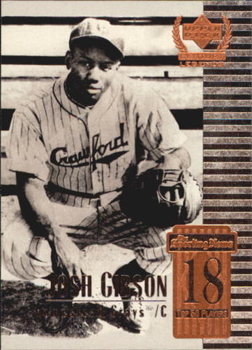 Photo of 1999 Upper Deck Century Legends #18 Josh Gibson -- Hall of Fame Class of 1972