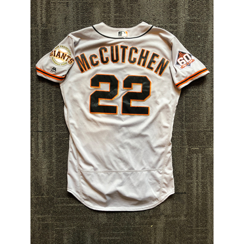 reputable site 152c1 241b6 MLB Auctions | 2018 San Francisco Giants - Road Game Used ...