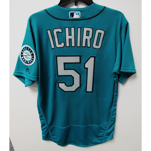 Photo of Seattle Mariners Ichiro Suzuki Team-Issued Green Jersey - 5/16/18 vs. TEX