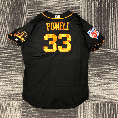 Photo of 2018 Game Used Spring Training Jersey - worn by #33 Alonzo Powell (COACH) on 3/27/18 vs. OAK - size 52