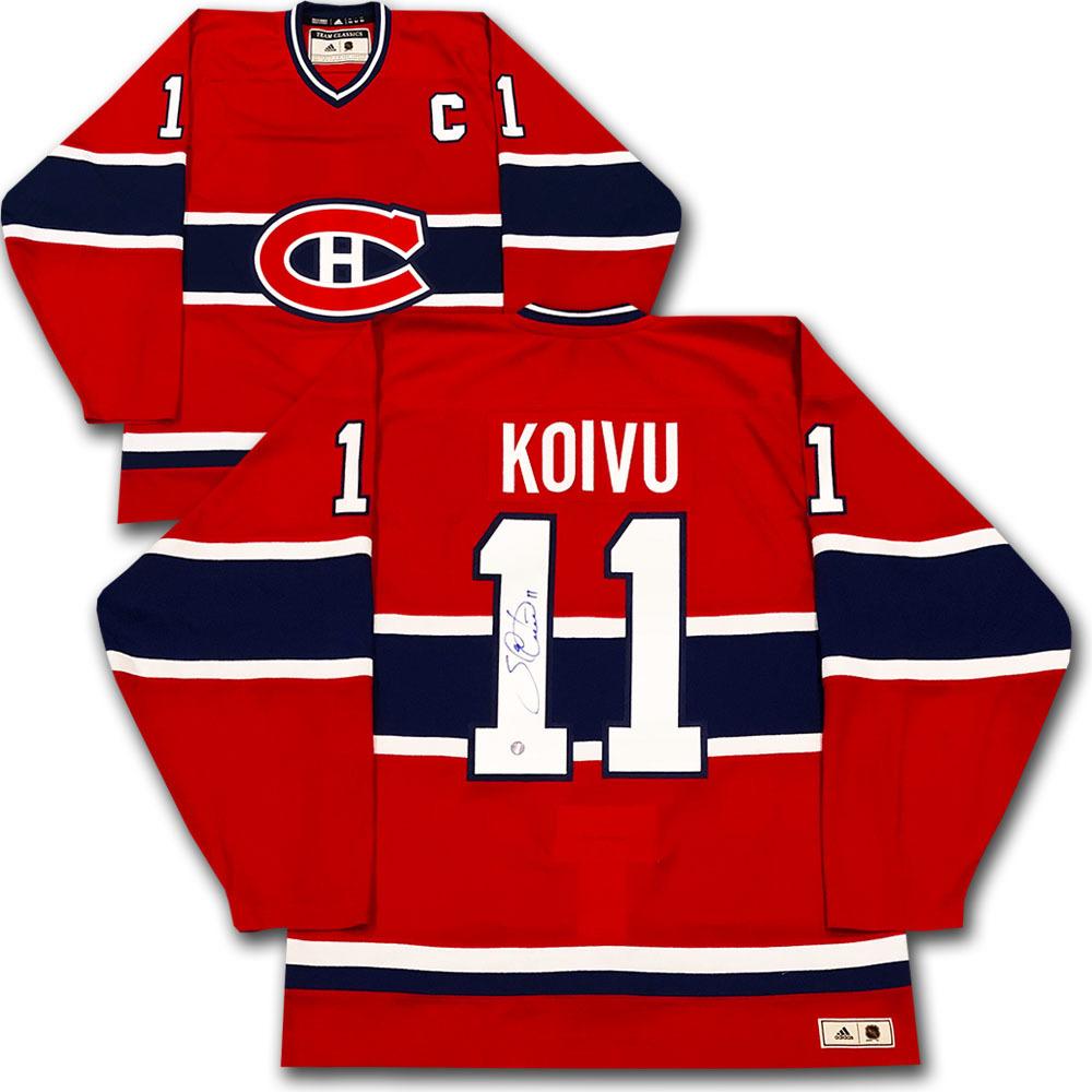 Saku Koivu Autographed Montreal Canadiens adidas Team Classics Authentic Vintage Jersey
