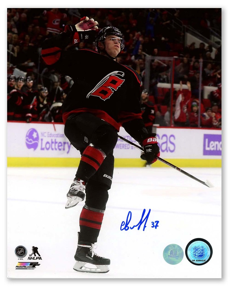 Andrei Svechnikov Carolina Hurricanes Autographed 1st NHL Goal 8x10 Photo