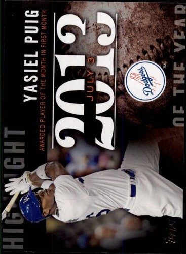 Photo of 2015 Topps Highlight of the Year #H90 Yasiel Puig UPD