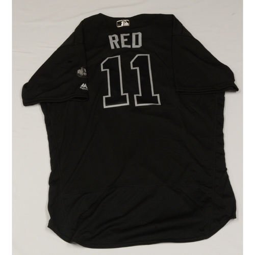 "Photo of Mike ""Red"" Redmond Colorado Rockies Game-Used 2019 Players' Weekend Jersey"