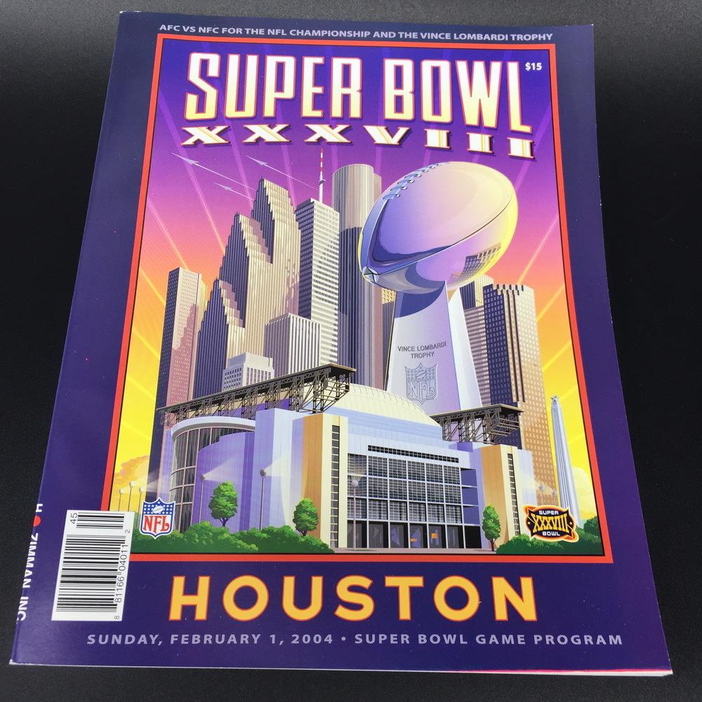 SUPER BOWL - 38 - XXXVIII - Panthers vs Patriots - Game Program