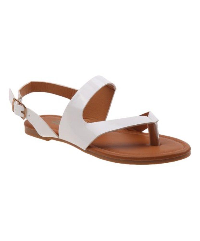 Photo of Petalia Patent Asymmetrical-Strap Sandal