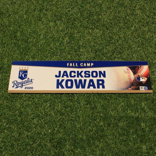 Team-Issued 2020 Fall Camp Locker Tag: Jackson Kowar