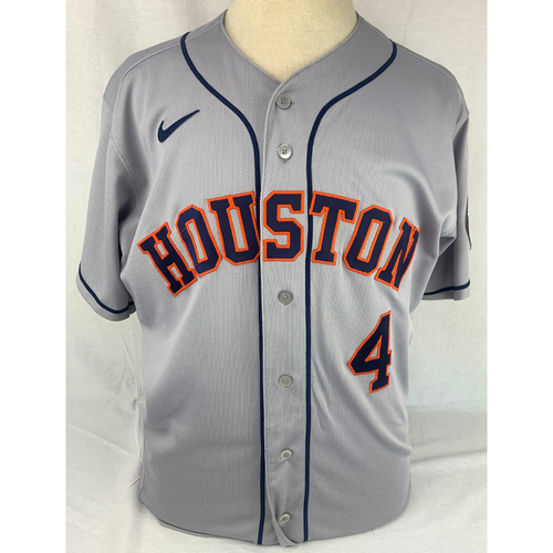 Photo of George Springer Game-Used 2020 Postseason Jersey - ALCS Game 1 - 10/11/2020 vs. TB