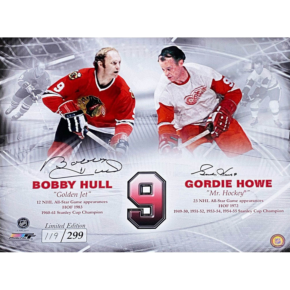 Gordie Howe & Bobby Hull Autographed Limited-Edition 16X20 - #119/299