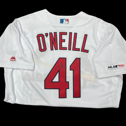 Photo of Tyler O'Neill Autographed Team Issued Home Jersey (Size 46)