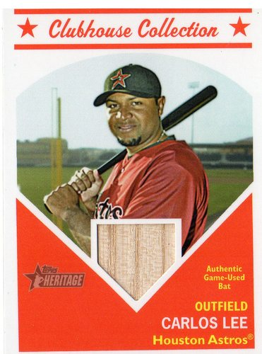 Photo of 2008 Topps Heritage Clubhouse Collection Relics #CL Carlos Lee HN B