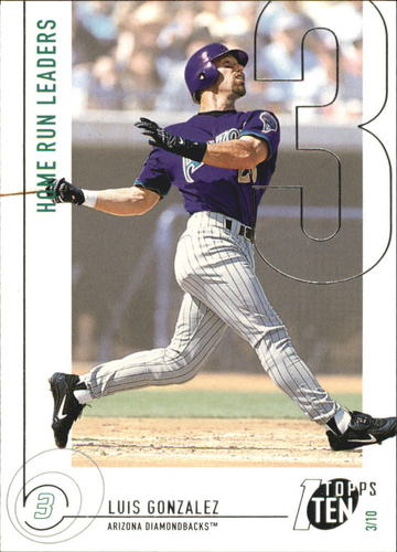 Photo of 2002 Topps Ten #33 Luis Gonzalez HR
