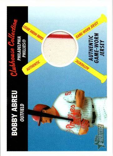 Photo of 2004 Topps Heritage Clubhouse Collection Relics #BA Bobby Abreu Jersey