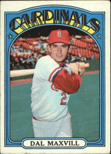 Photo of 1972 Topps #206 Dal Maxvill