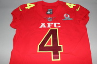 NFL - RAIDERS DEREK CARR GAME ISSUED 2017 AFC PRO BOWL JERSEY - SIZE 44