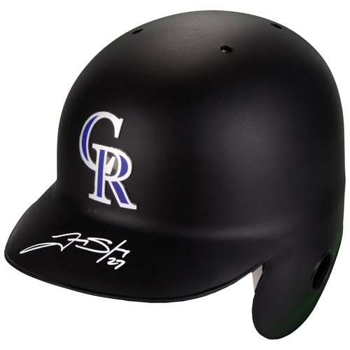 Photo of Trevor Story Colorado Rockies Autographed Replica Batting Helmet