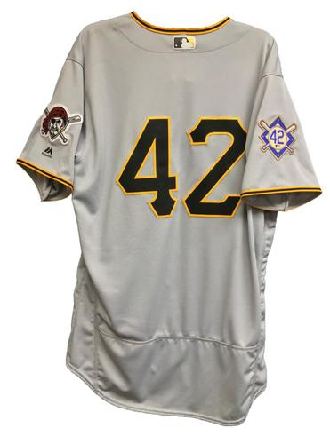 Photo of Jordy Mercer Game-Used 2018 Jackie Robinson Day Jersey