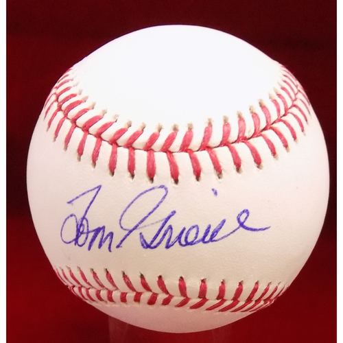 Photo of Tom Grieve Autographed Baseball