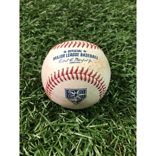 Photo of 20th Anniversary Game Used Baseball: Mallex Smith single and Christian Arroyo single off Felix Hernandez - June 9, 2018 v SEA