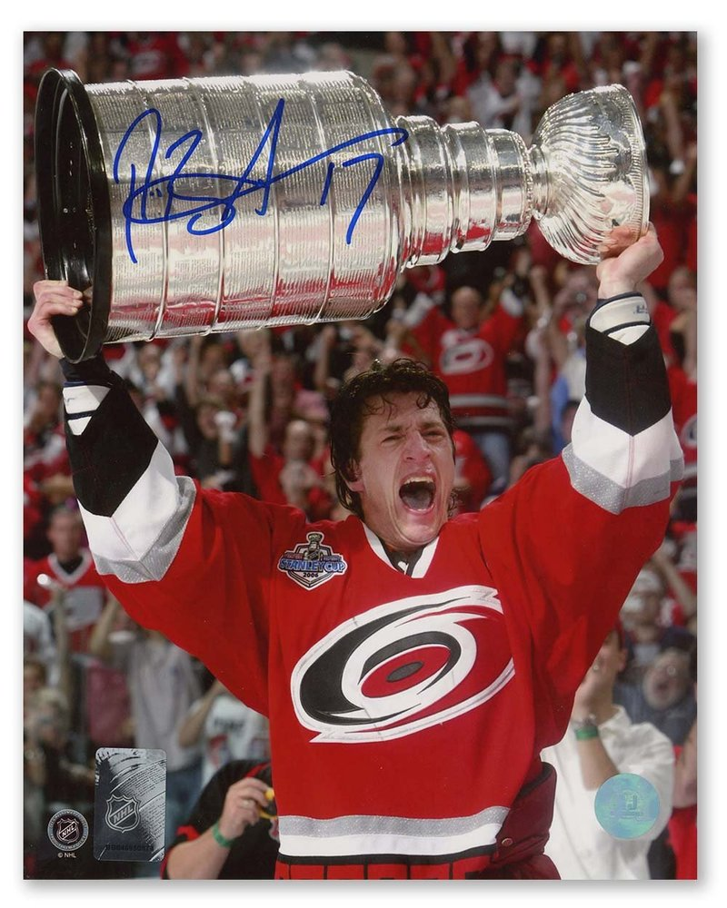 Rod Brind'Amour Carolina Hurricanes Autographed 2006 Stanley Cup 8x10 Photo