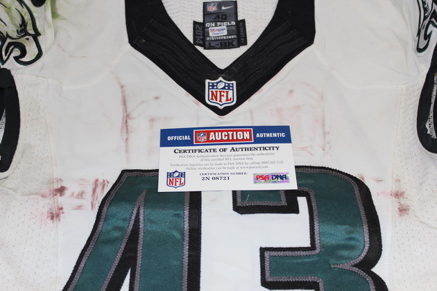 34a5730f886 NFL Auction | DARREN SPROLES GAME WORN EAGLES JERSEY (OCTOBER 5, 2014)