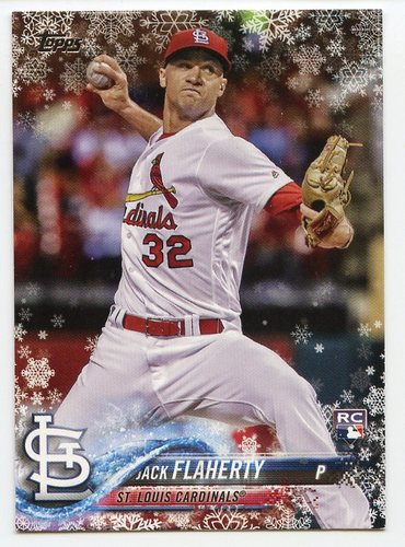 Photo of 2018 Topps Walmart Holiday Snowflake #HMW145 Jack Flaherty RC