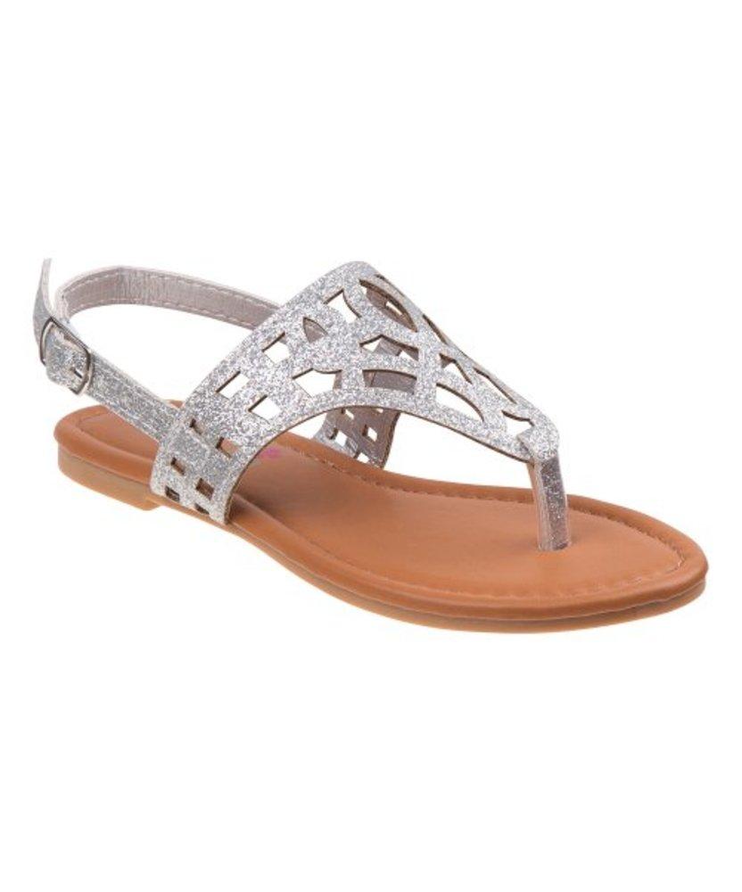 Photo of Shiny Cutout-Strap Sandal