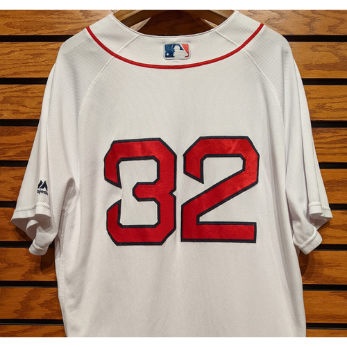 Photo of Red Sox #32 Team Issued Home White Jersey