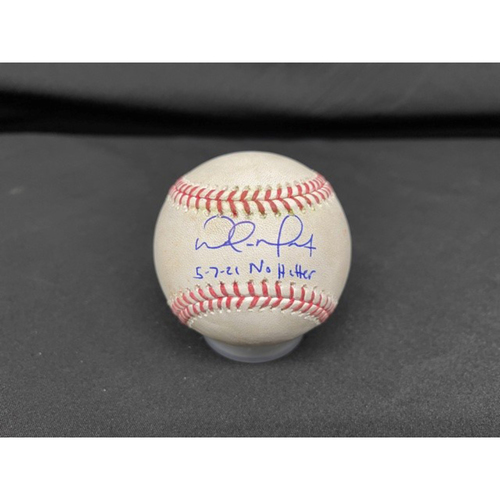 Photo of Wade Miley No-Hitter - *Autographed Game-Used Baseball* - Top 6 - Zach Plesac to Nick Senzel (Ground Out); to Jesse Winker (Foul) - Inscribed as 5-7-21 No Hitter
