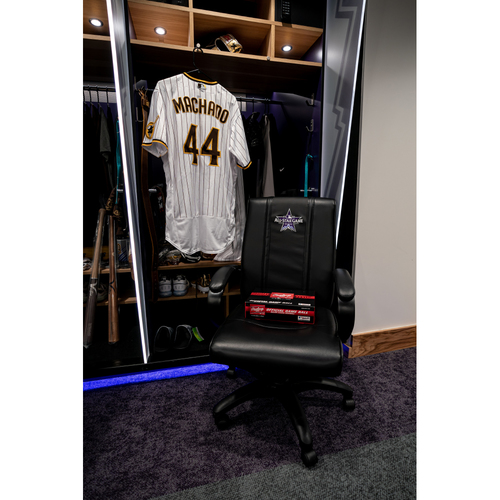 Photo of 2021 All-Star Game Clubhouse Chair Panel from Manny Machado's Locker Chair