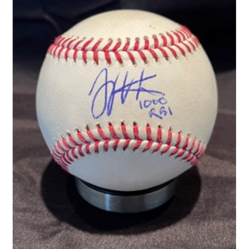 Photo of Joey Votto *Game-Used, Autographed & Inscribed* Baseball from 1,000th Career RBI Game - Joe Musgrove to Jesse Winker (Single); to Nick Castellanos (Ball in Dirt) -- 06/30/2021 - SD vs. CIN - Bottom 1