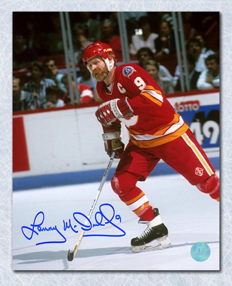 Lanny McDonald Calgary Flames Autographed Cup Finals Action 8x10 Photo