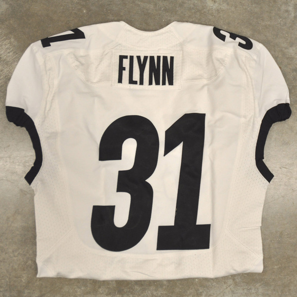 Photo of Game-Worn Football Jersey // White with Black Detail // No. 31 Parker Flynn