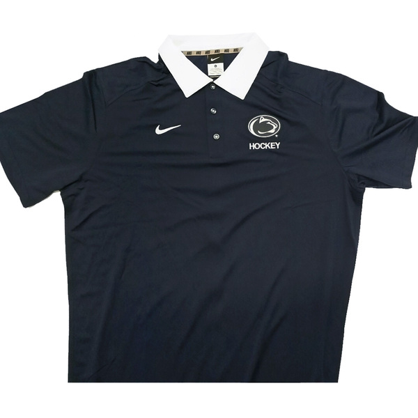 Photo of Penn State Men's Ice Hockey Team Issued Gear: Blue Polo (like new) Size XL