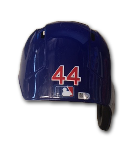 Photo of Anthony Rizzo Team-Issued Cracked Batting Helmet -- Size 7 1/2