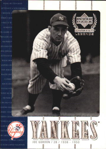 Photo of 2000 Upper Deck Yankees Legends #22 Joe Gordon -- Hall of Fame Class of 2009